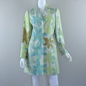 NEW {Sigrid Olsen} Floral Print Long Jacket $248